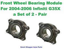 Front Wheel Bearing Module For 2004-2006 Infiniti G35X AWD Only - Pair 513311