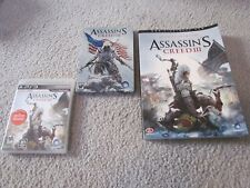 PLAYSTATION 3 PS3 ASSASSINS CREED III II LOT TIN GUIDE GAMES OFFICIAL BUNDLE