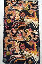 Vintage Tibetan Dragon And Phoenix 36x72 traditional rectangle Rug