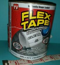 New Listingflex Seal Strong Rubberized Waterproof Flex Tape 4 X 5 Clear