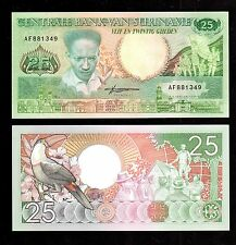 SURINAME  IN S. AMERICA, 1 NOTE OF 25 GULDEN , 1988, P-132 UNC FROM BUNDLE