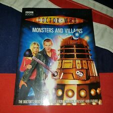 Doctor Who Monsters and Villains - BBC Books Paperback - Daleks Cybermen Autons