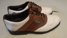 Footjoy Extra Comfort Men's Golf Shoes Size 9 M Brown White 57801 FREE SHIPPING