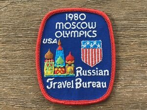 Authentic VINTAGE 1980 Moscow Summer Olympic Games  USA  Cloth Patch, Unused