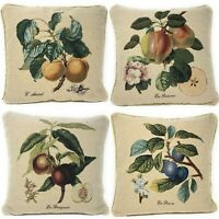 Vintage Farmhouse Tapestry Apple Fruit Country Accent Throw Cushion Pillow Cover