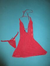 VICTORIA SECRET VERY SEXY Womens Burgundy 2 pc Gown Lingerie Size Medium M NWT