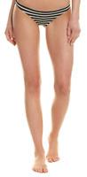 Vitamin A Swimwear Black White Stripe Bikini Bottom Women's Size M 52253
