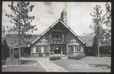 REAL PHOTO Postcard GAYLORD Michigan/MI  Middle Valley A-Frame Style Shop 1940's