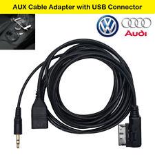 3.5mm AUX Cable para VW Audi Música AMI MDI USB Cargador AUX Adaptador 1.5M