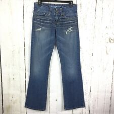 """Guess Jeans Women's Size 27 Distressed Ripped Long 33"""" Inseam Stretch Boot Cut"""