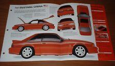 1993 MUSTANG SVT COBRA ORIGINAL IMP BROCHURE 93 FORD 87 88 89 90 91 92 GT LX 5.0