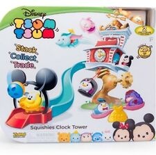 Tsum Tsum Squishies Clock Tower w/ 2 Mini Figures Squishies Stack Playset Disney