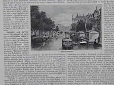 19th Century Engraving #10 Netherlands A Scene In Amsterdam
