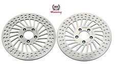 Polished Harley Front Brake Disc Rotors Road King Street Electra Glide 2008 & up