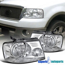 For 2004-2008 Ford F150 Truck Headlights Head Lamps Clear Pair