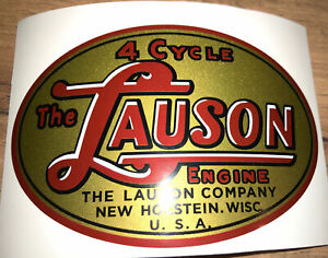 Lauson Engine new art early style decal TLC RSC Oval metallic gold large set 2