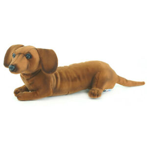Dachshund Sausage Puppy Dog Hansa Realistic Animal Plush Toy 40cm *FREE DELIVERY