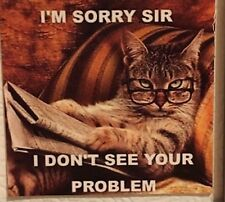 I'm sorry sir I don't see your problem. Cute Cat glasses pet magnet