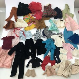 LOT OF VINTAGE 1960's BARBIE CLOTHES 38+ Pieces. No Tags At All, Metal Snaps