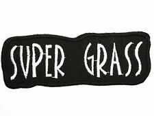 Supergrass Logo Embroidered Iron On Sew On Shirt Bag Hat Badge Patch