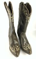 Durango Crush Head West Cowgirl Boots Brown Leather Country Western Size 6.5 M