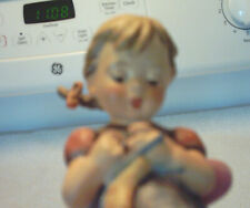 New ListingVintage Goebel Hummel Figurine - A Stitch In Time - Girl Knitting 1963