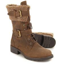 Clarks Ladies Mid-Calf Winter Boot ORINOCO PRIZE Tobacco Nubuck UK 4 WIDE