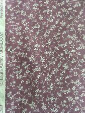 Vintage Laura Ashley Cotton Fabric Remnant Wild Clematis Plum Patchwork