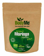 BodyMe Organic Moringa Oleifera Powder Raw | 50g | Soil Association Certified