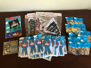 Pirate Party Lot! Decorations,Banners,Goody Bags,Confetti,Ribbons & Party Music