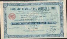 Compagnie Générale des VOITURES A PARIS (U)
