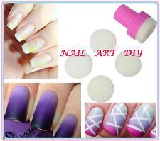 Nail Art Stamping-Stamper+Spugne di Ricambio-Effetto Sfumato-Decorazione Unghie!