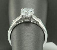 1CT Round CUT SET ENGAGEMENT RING WEDDING BAND 18K WHITE GOLD