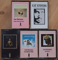 CAT STEVENS 5x ORIGINAL ISLAND CASSETTE TAPES NUMBERS / FOREIGNER / BUDDHA ETC