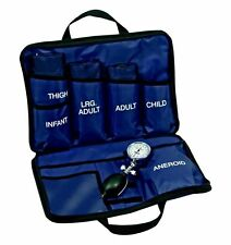 LINE2design BP Cuff Kit - Multi Blood Pressure 5 Cuff System Nylon Case - Blue