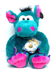 PlayTalkin' green Dragon Plush Puppet 24K Polar Puff 1994new with tags 1994 DERK