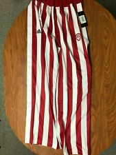 MENS NEW WITH TAGS ADIDAS INDIANA HOOSIERS BREAWAY BASKETBALL PANTS SIZE LARGE