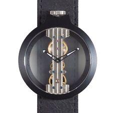 Reloj de cuerda manual correa de cuero Atto Verticale número 3343B2