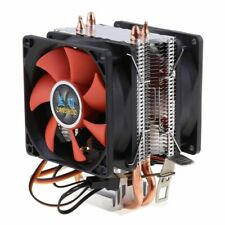 CPU Cooler Heatpipe Quiet Dual Fan Computer Cooling Fan Heatsink 3Pin
