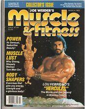 Muscle & Fitness Bodybuilding Workout Magazine LOU FERRIGNO Hercules 3-83