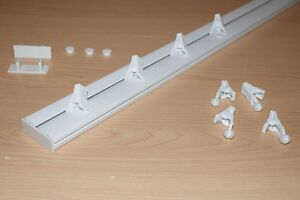 Single Curtain Ceiling Rail Track LONG 2m 4m 6m  F&F Fast DELIVERY