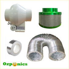 HYDROPONICS VENTILATION - 4 INCH VENT FAN + DUCTING + CARBON FILTER + DUCT TAPE