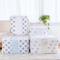 US Foldable Storage Box Folding Sweater Clothes Blanket Closet Organizer Bag HJ