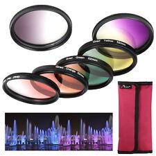 6pcs Graduated Color Lens Filter Kit for Nikon D3100 D3200 D5100 DSLR 52mm LF348