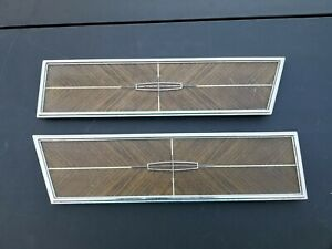 1966 Lincoln continental Rear Coupe wood grain armrest panels