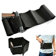 Adjustable Belly Band Gun Holster Concealed Carry Pistol Waist Magazine Holder