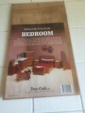 Duracraft Dura-Carft Wood Wooden Miniature Dollhouse Bedroom Furniture Doll