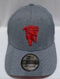 Manchester United Men's New Era 39THIRTY M/L Cap Hat Gray