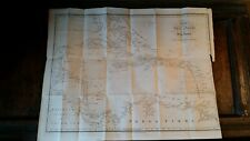 1823 ANTIQUE MAP CHART OF THE WEST INDIES S. AMERICA COLUMBUS - MURRAY / WALKER