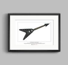 Randy Rhoads' Sandoval Polka Dot Flying V Limited Edition Fine Art Print A3 size